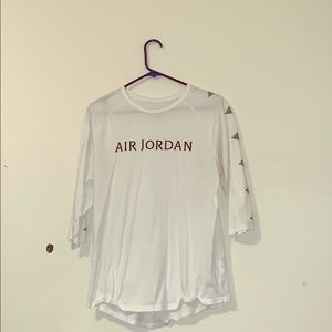 white air Jordan shirt